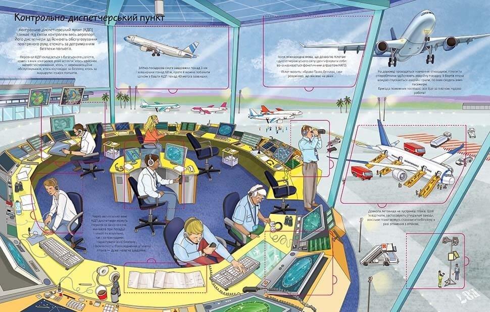 Книга з віконцями на картоні 2+, Аеропорт
