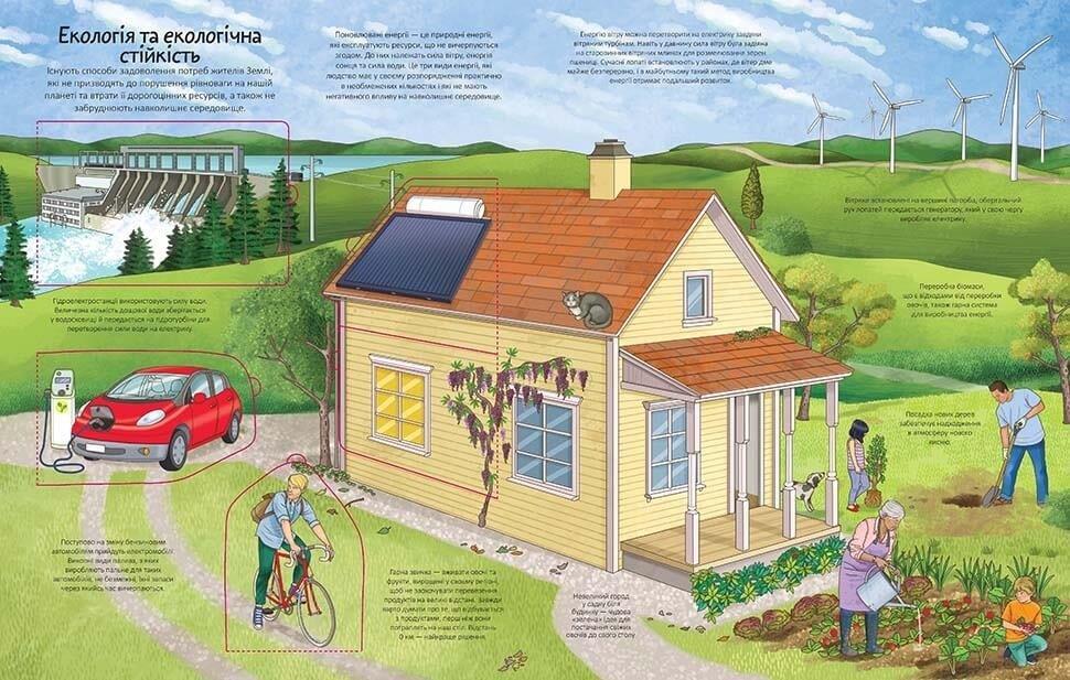 Картонна книга для дітей з віконцями Земля