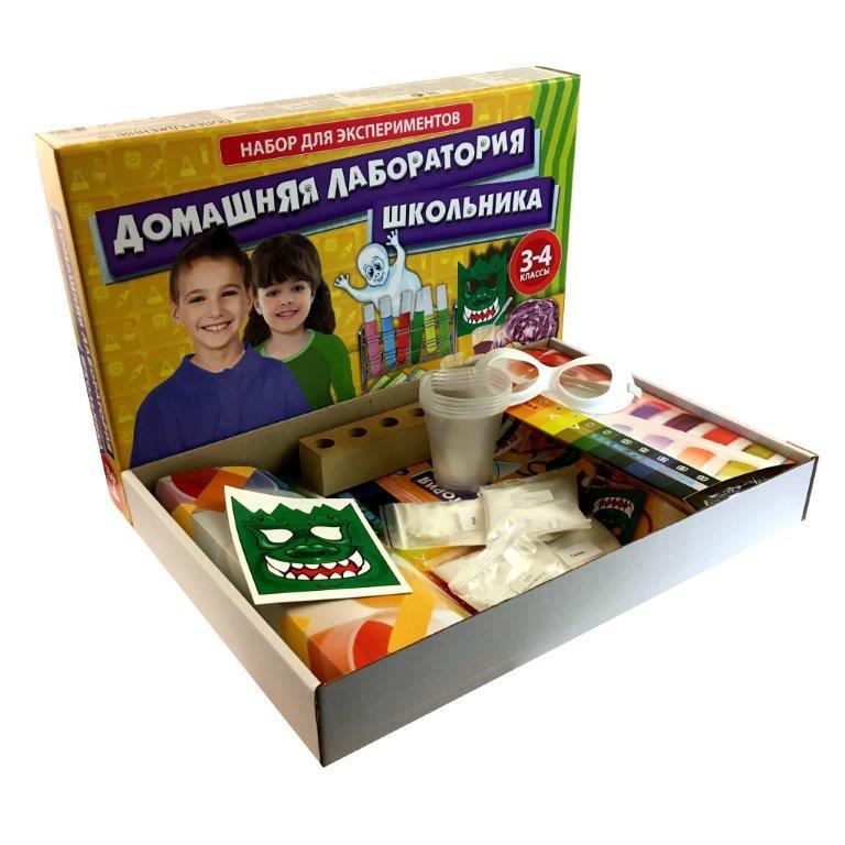 Набор для опытов Домашняя лаборатория школьника 3-4 класс