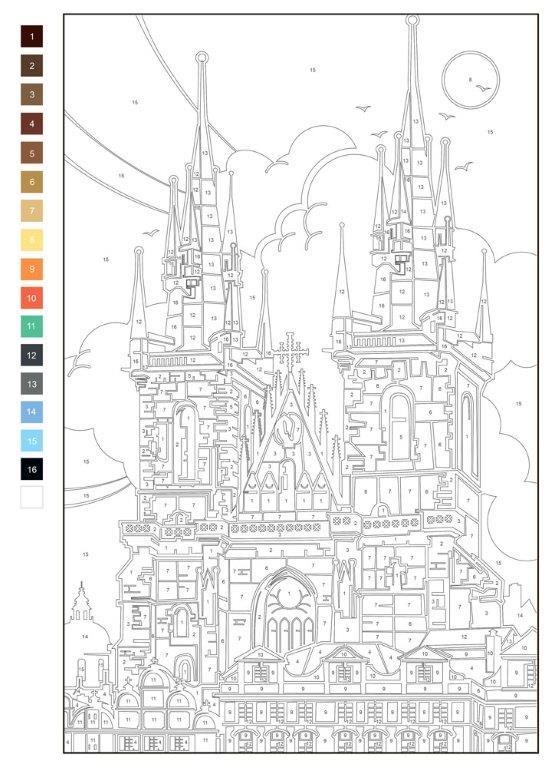 Розмальовка Кольоровий квест Архітектура